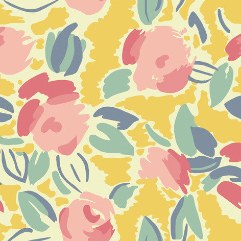 Bright Multi-colored Floral Fabric