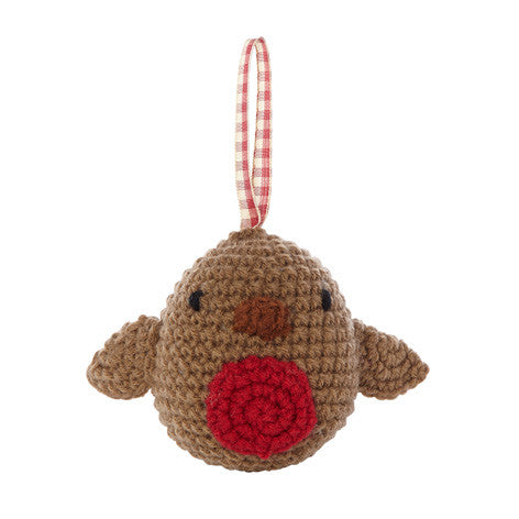 Knitted Robin Decoration