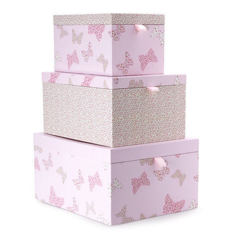 Set of 3 Bella Butterfly Storage Boxes