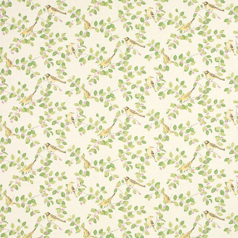 Green Bird & Leaf Fabric