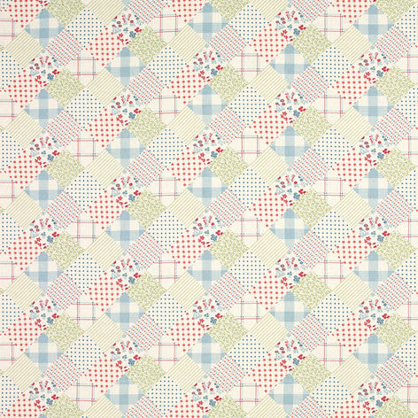 Country Cottage Patchwork Fabric