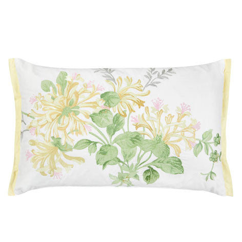 Honeysuckle Embroidery Floral Camomile Cushion