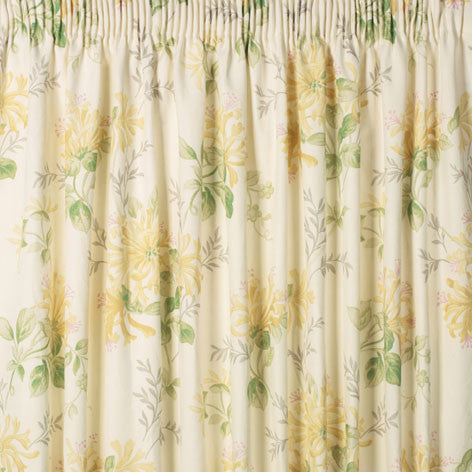 Honeysuckle Trail Camomile Ready Made Curtains