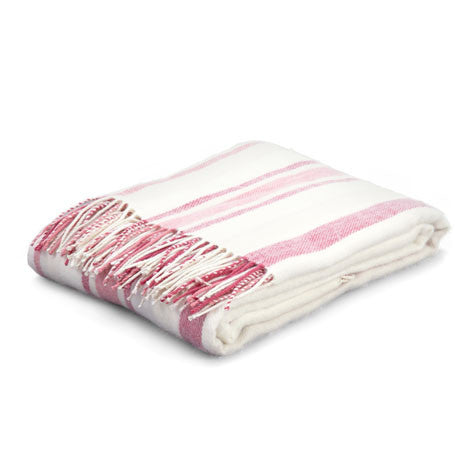 Awning Stripe Cranberry Throw
