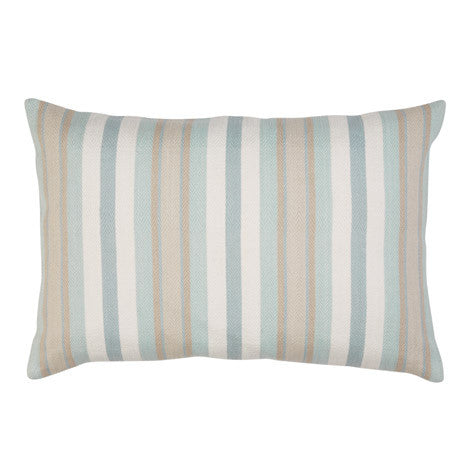 Croyde Stripe Duck Egg Cushion