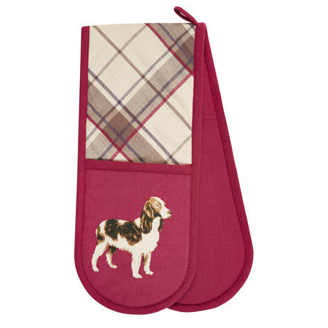 Highland Check Double Oven Glove