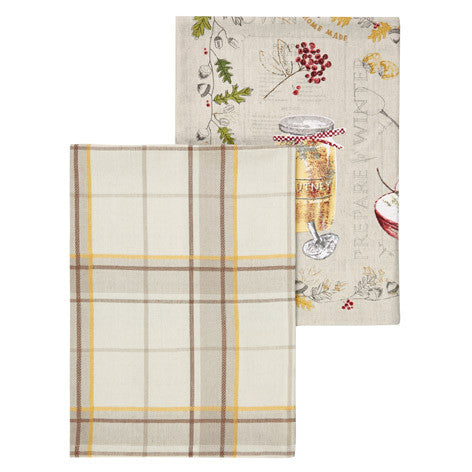 Set of 2 British Larder Tea Towels