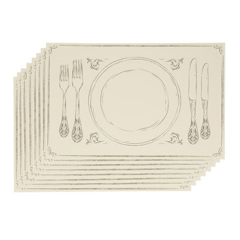 Classic Dinner Paper Placemat Set