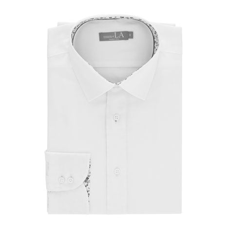 Mens Floral Collar Solid Shirt