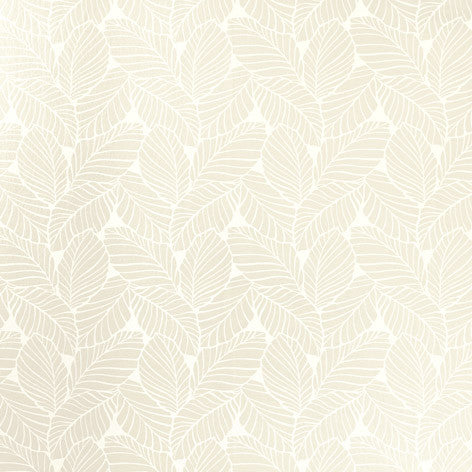 Palm Leaf White Wallpaper