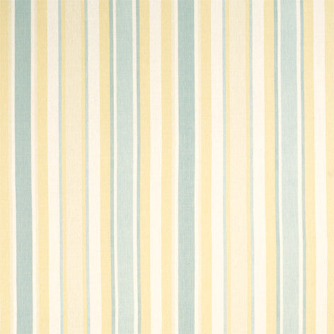 Yellow & Blue Striped Curtain Fabric