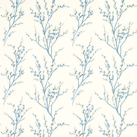 Willow Branch Off-White And Blue Fabric