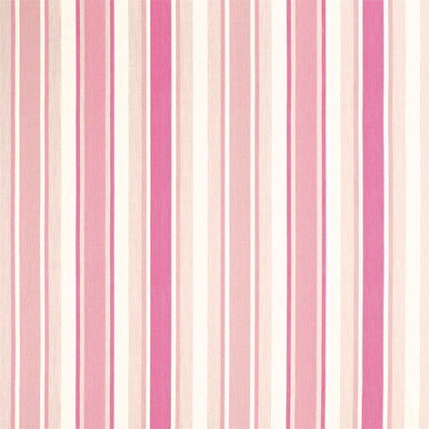 Classic Pink Striped Drapery