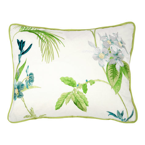 Orchid Embroidered Cushion