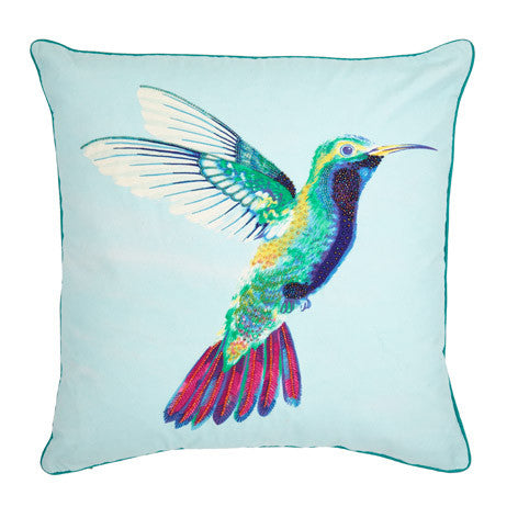 Hummingbird Topaz Cushion
