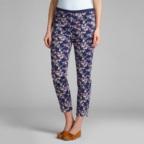 Floral Print Ankle Cropped Trouser