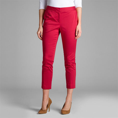 Deep Raspberry Cropped Trouser