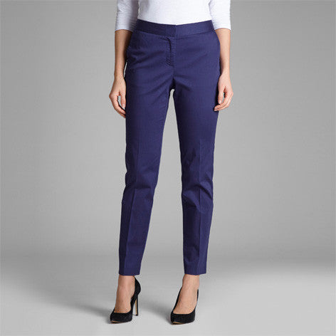 Navy Straight Leg Trouser