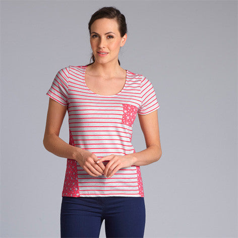 Ditsy Stripe Pocket T-Shirt