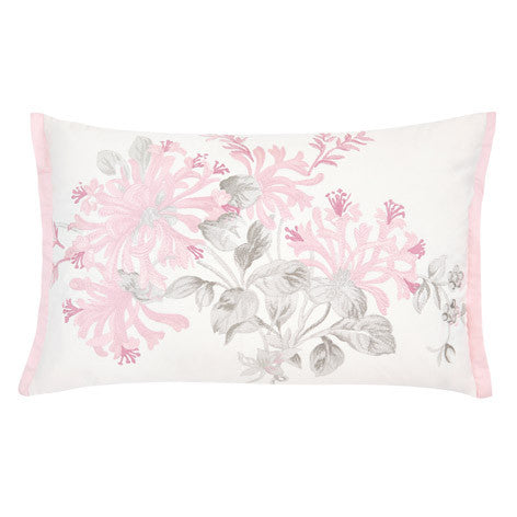Honeysuckle Embroidered Cushion
