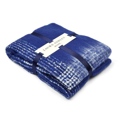 Anastasia Royal Blue Check Blanket