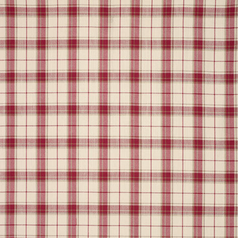 Highland Check Cranberry Fabric