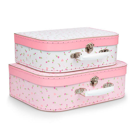 Set of 2 Amelia Floral Suitcases