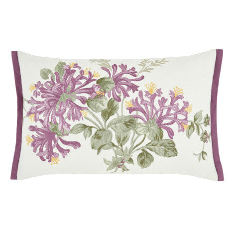Honeysuckle Grape Embroidered Cushion