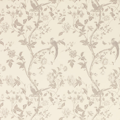 Summer Palace Dove Grey Floral Wallpaper
