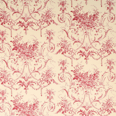 Tuileries Cranberry Wallpaper