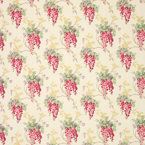 Wisteria Floral Cranberry Fabric