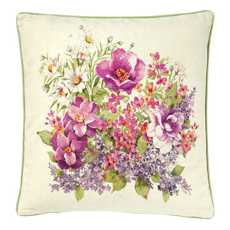 Flower Show Floral Cushion