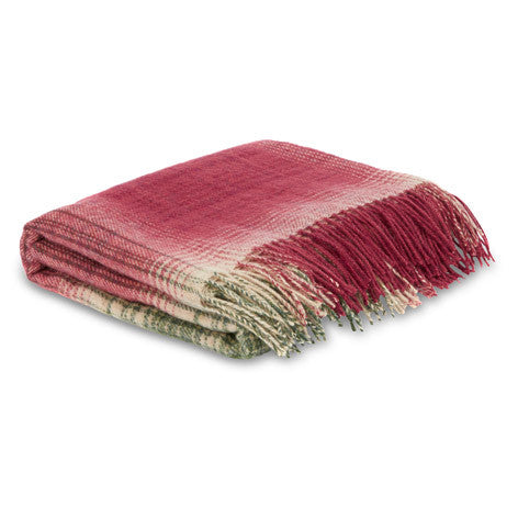 Stirling Check Cranberry Throw