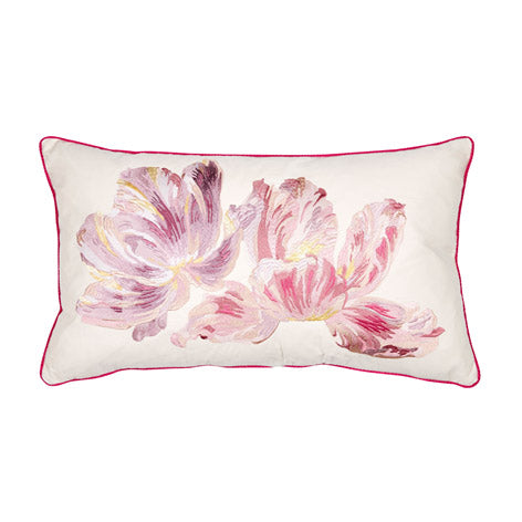 Gosford Bloom Cyclamen Embroidered Cushion