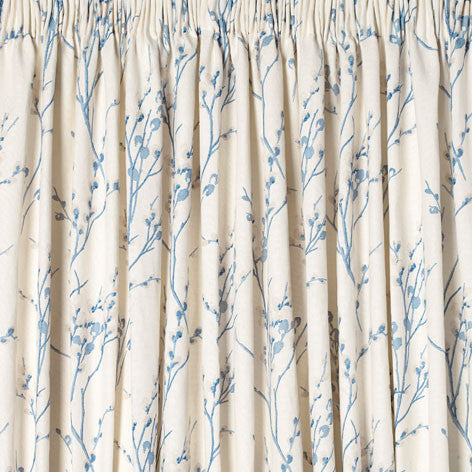 Pussy Willow Off White/Seaspray Ready Made Curtains