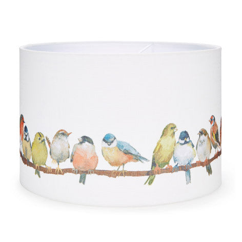 Birds Printed Fabric Shade