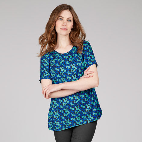 Poppy Print Floral Top