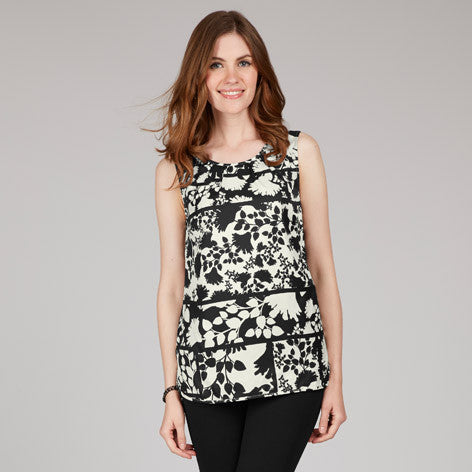 Silhouette Floral Sleeveless Top