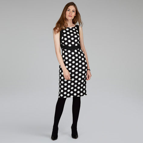 Sleeveless Spot Ponte Dress