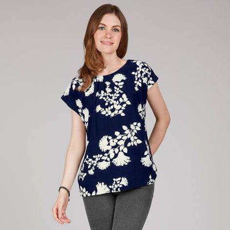 Silhouette Floral Top
