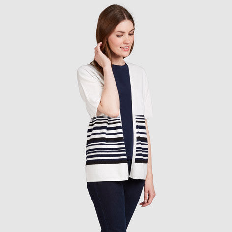Dropped Sleeve Stripe Cardigan