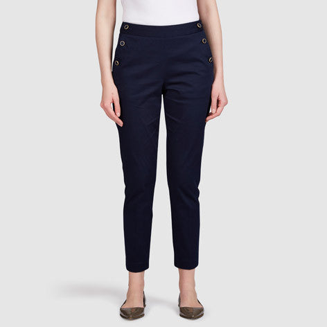 Ankle Sailor Cropped Trouser
