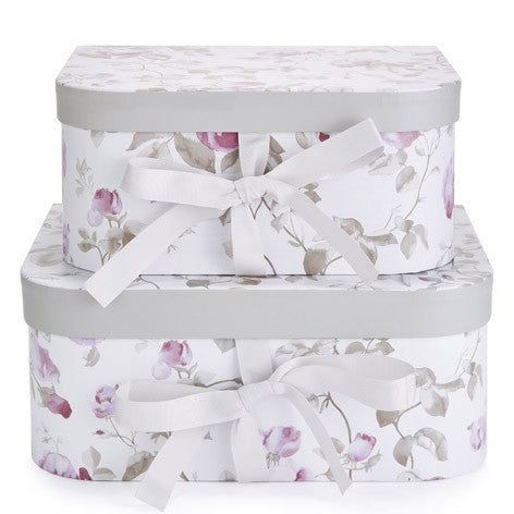 Grace Floral Set Of 2 Storage Boxes