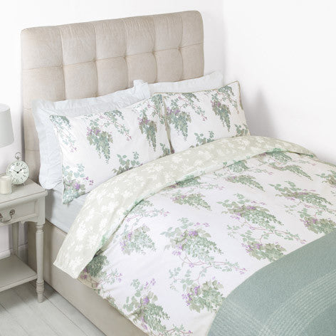 Wisteria Duck Egg Duvet Cover