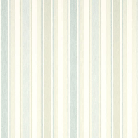Awning Stripe Duck Egg/Pistachio Wallpaper