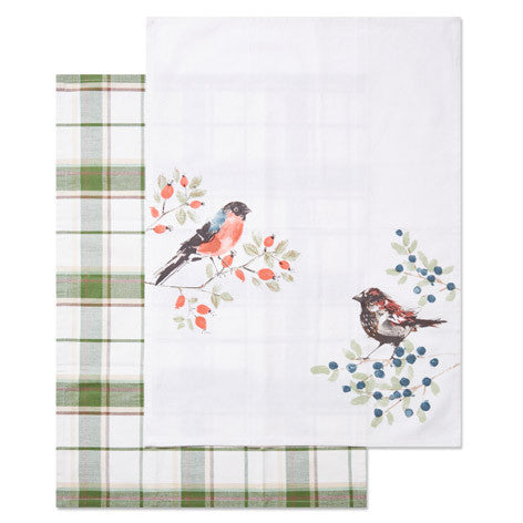 British Birds Set of 2 Tea Towels