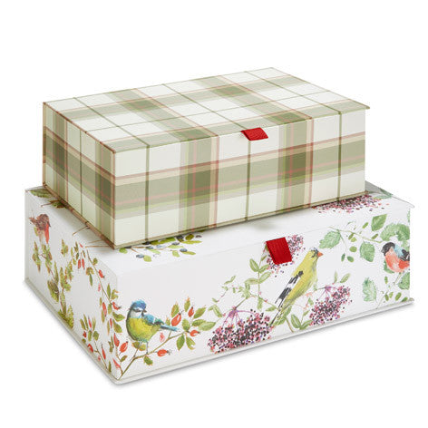Set of 2 Woodland Scene Storage Boxes