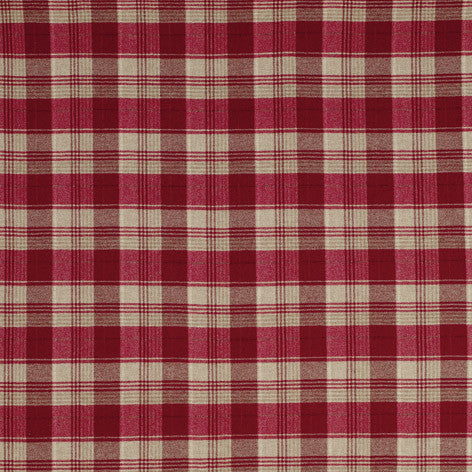 Cranbourne Wool Check Cranberry Fabric