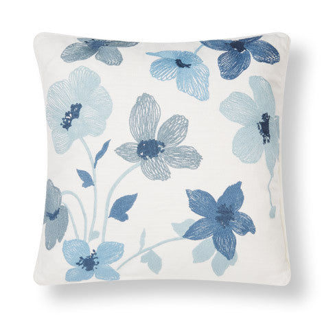 Simone Embroidered Seaspray Cushion