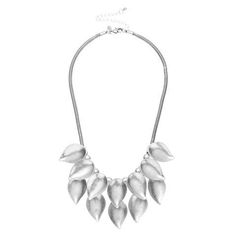 Metal Leaf Statement Necklace